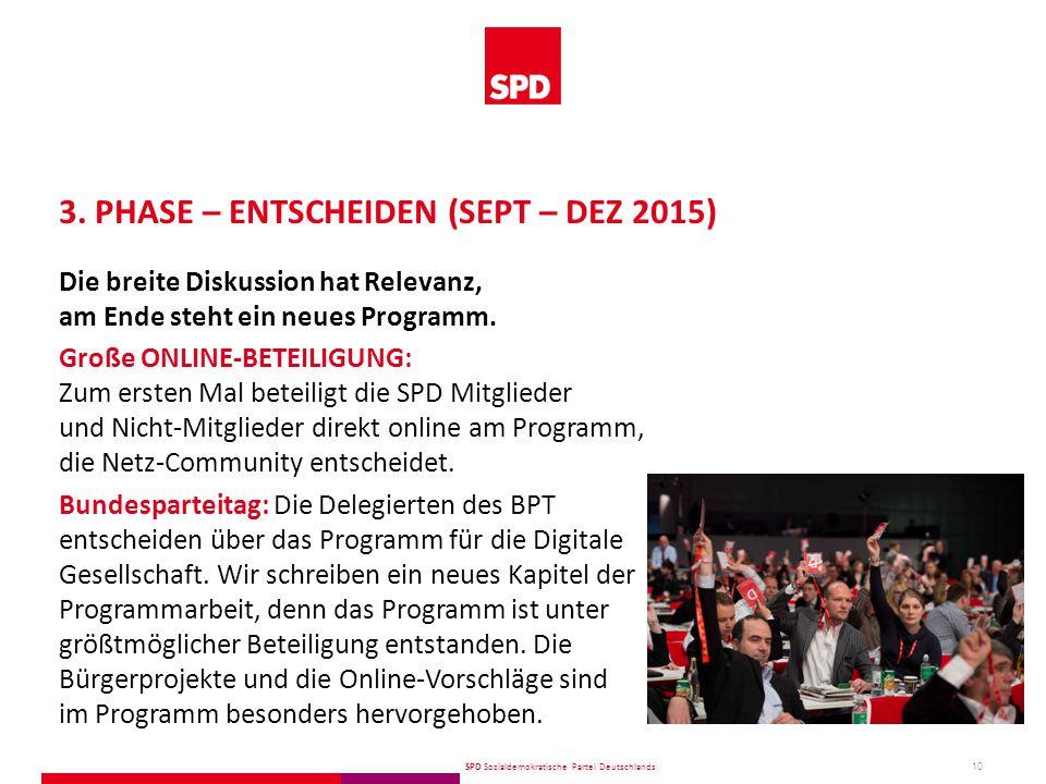 SPD Sozialdemokratische Partei Deutschlands 10 3.