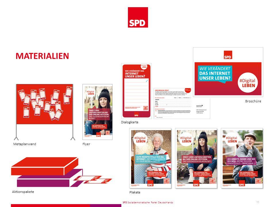 SPD Sozialdemokratische Partei Deutschlands 11 MATERIALIEN Plakate Broschüre Dialogkarte FlyerMetaplanwand Aktionspakete