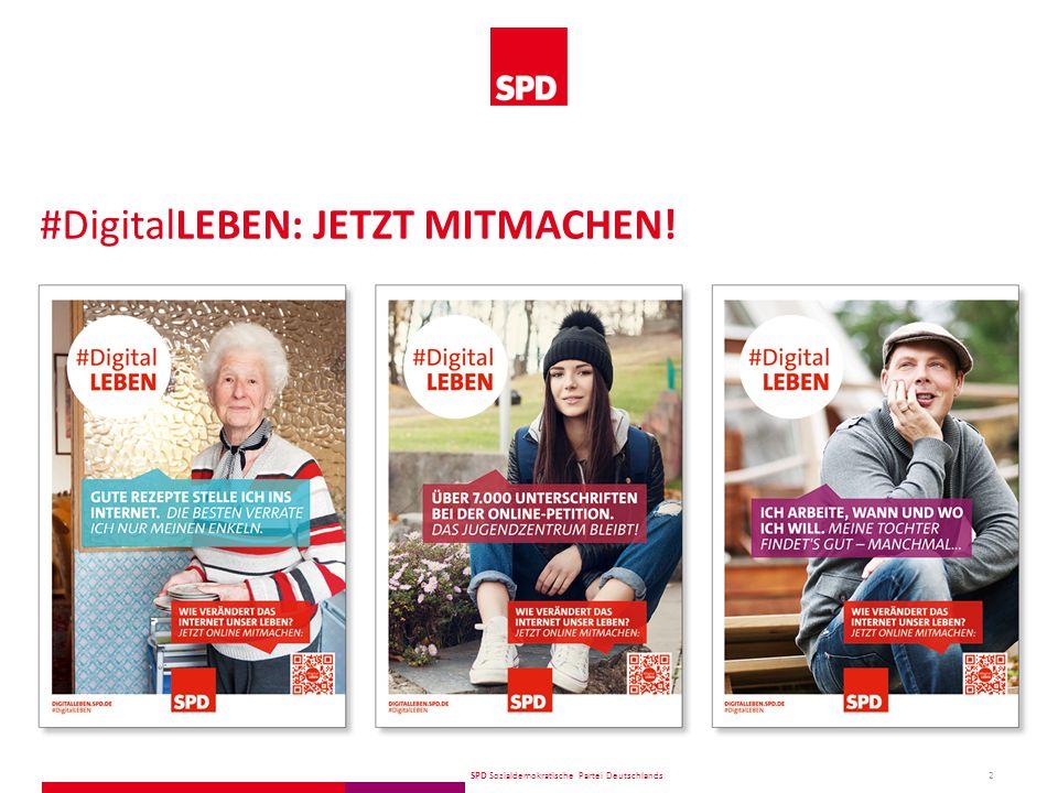 SPD Sozialdemokratische Partei Deutschlands Breite Diskussion innerhalb und außerhalb der Partei über die Chancen und Risiken der Digitalisierung.