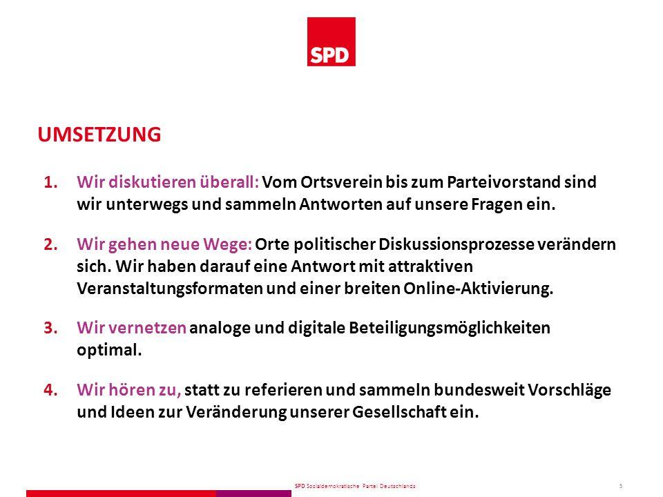 SPD Sozialdemokratische Partei Deutschlands 6 1.