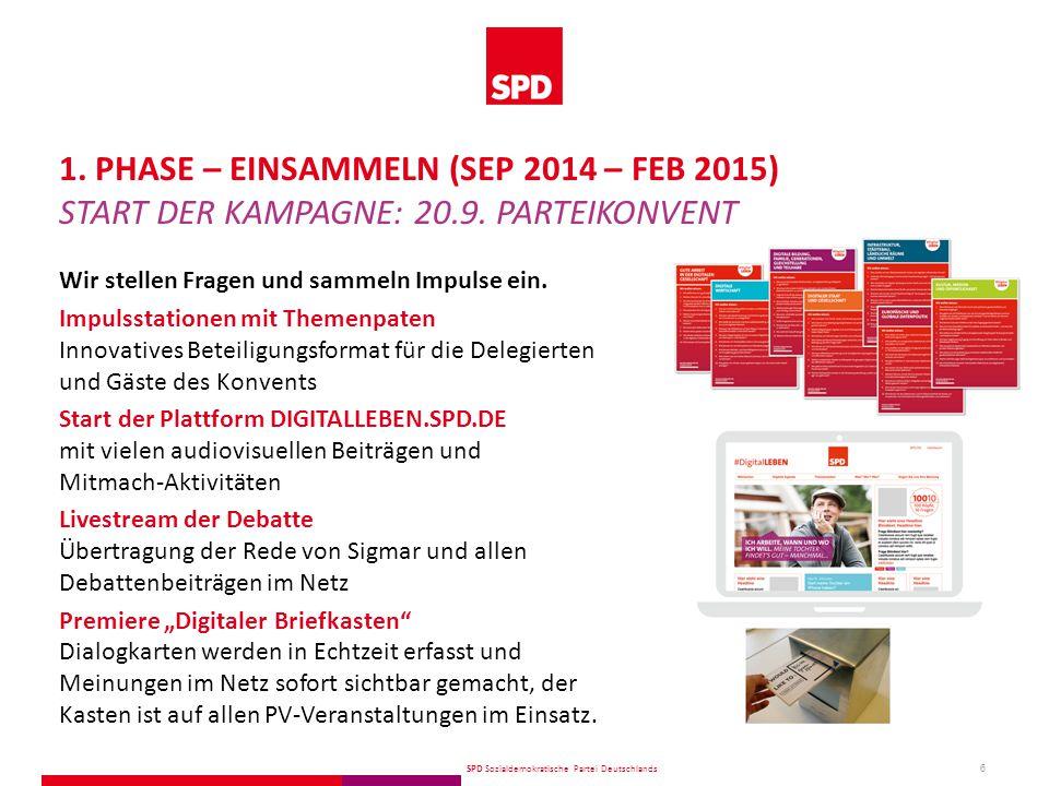 SPD Sozialdemokratische Partei Deutschlands 7 10 Fragen an 100 Köpfe: 100 gesellschaftliche VertreterInnen geben interessante Einblicke und Anregungen.