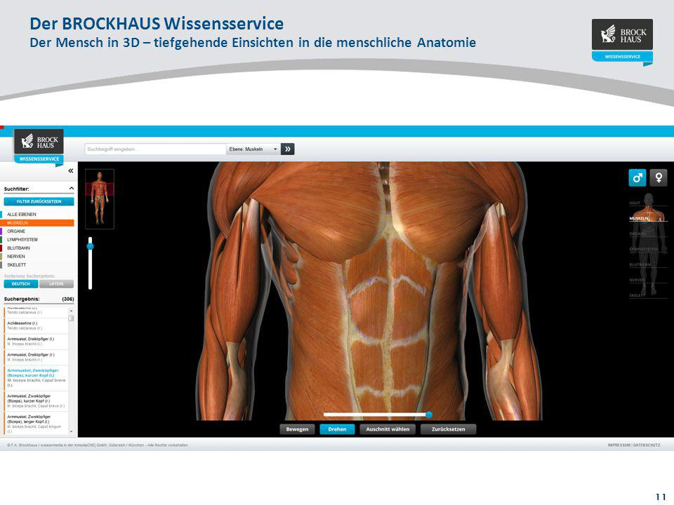 11 Der BROCKHAUS Wissensservice Der Mensch in 3D – tiefgehende Einsichten in die menschliche Anatomie