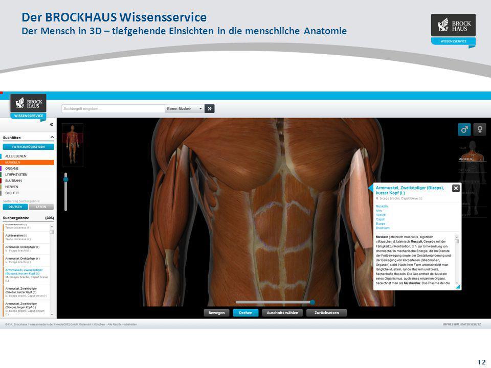 12 Der BROCKHAUS Wissensservice Der Mensch in 3D – tiefgehende Einsichten in die menschliche Anatomie