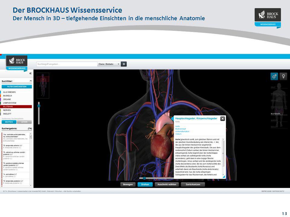 13 Der BROCKHAUS Wissensservice Der Mensch in 3D – tiefgehende Einsichten in die menschliche Anatomie