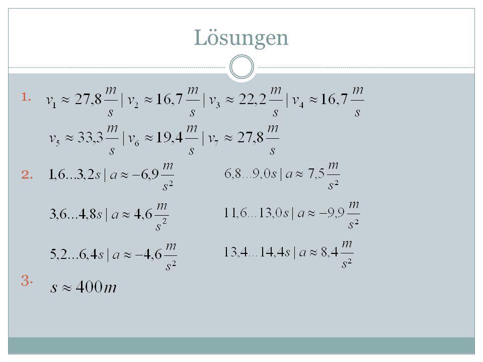 Lösungen 1. 2. 3.