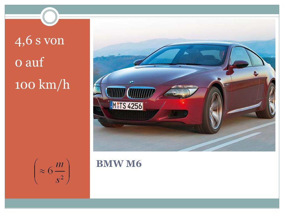 BMW M6 4,6 s von 0 auf 100 km/h