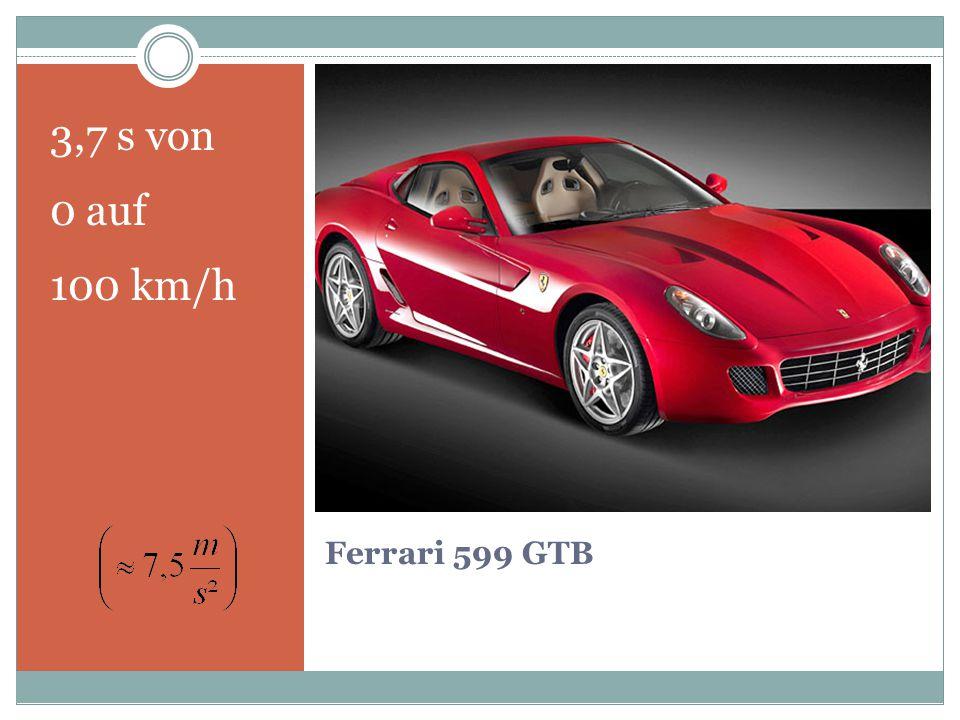 Ferrari 599 GTB 3,7 s von 0 auf 100 km/h