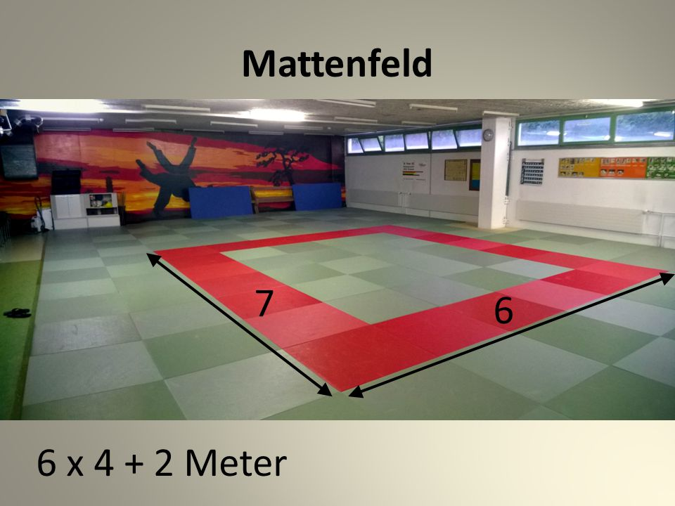 Mattenfeld 6 x 4 + 2 Meter 7 6