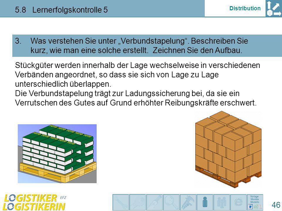 """Distribution 5.8 Lernerfolgskontrolle 5 46 Was verstehen Sie unter """"Verbundstapelung ."""