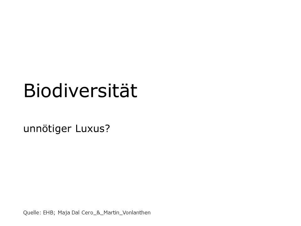 Biodiversität unnötiger Luxus? Quelle: EHB; Maja Dal Cero_&_Martin_Vonlanthen