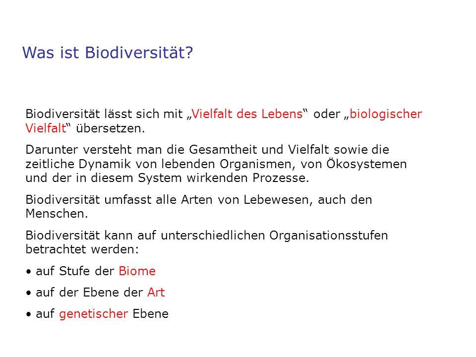 """Was ist Biodiversität? Biodiversität lässt sich mit """"Vielfalt des Lebens"""" oder """"biologischer Vielfalt"""" übersetzen. Darunter versteht man die Gesamthei"""