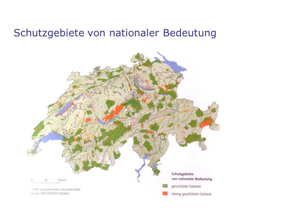 Schutzgebiete von nationaler Bedeutung