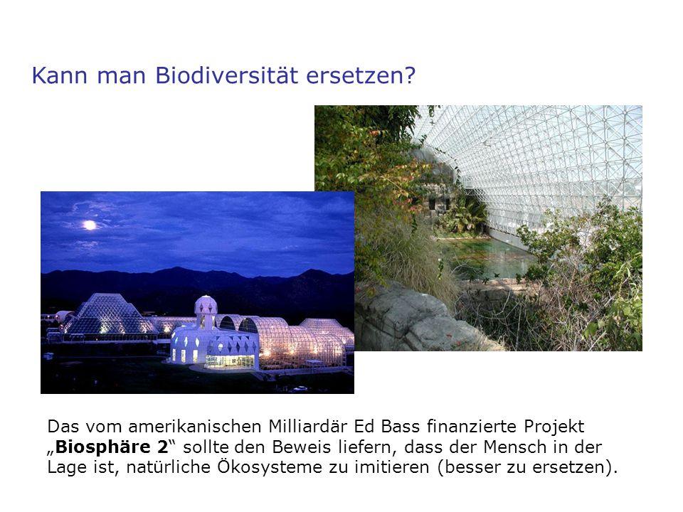 """Kann man Biodiversität ersetzen? Das vom amerikanischen Milliardär Ed Bass finanzierte Projekt """"Biosphäre 2"""" sollte den Beweis liefern, dass der Mensc"""