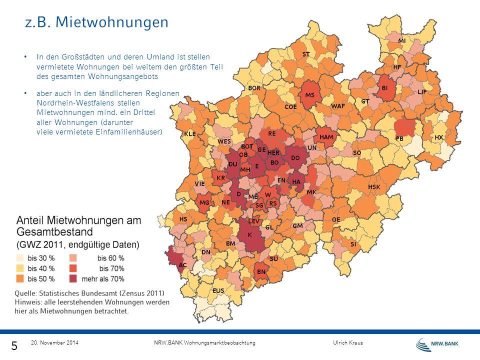 z.B. Mietwohnungen In den Großstädten und deren Umland ist stellen vermietete Wohnungen bei weitem den größten Teil des gesamten Wohnungsangebots aber