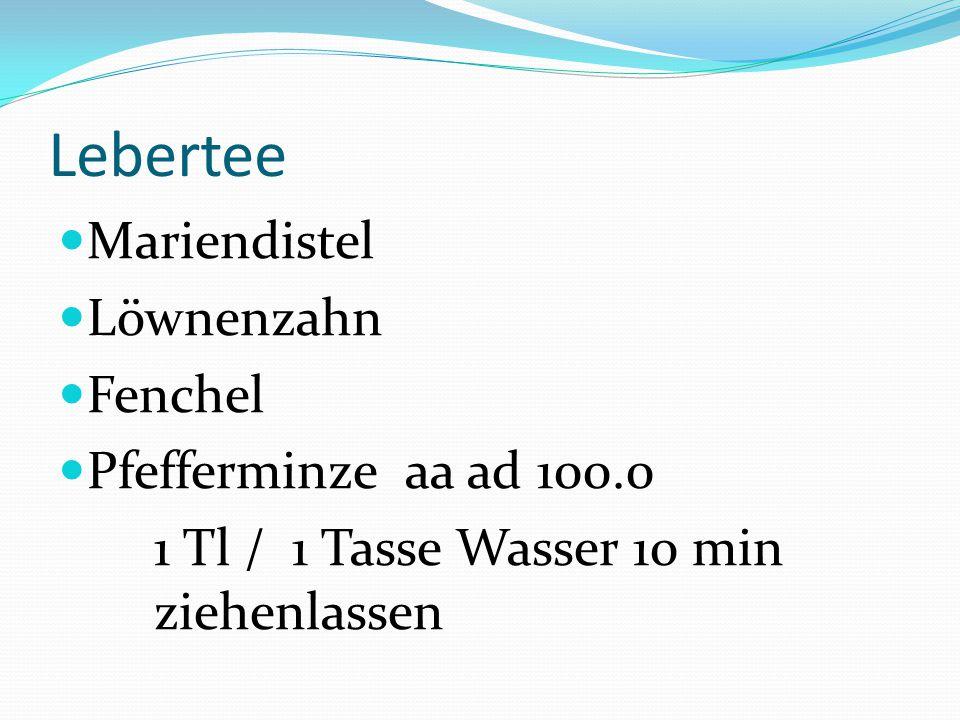 Lebertee Mariendistel Löwnenzahn Fenchel Pfefferminze aa ad 100.0 1 Tl / 1 Tasse Wasser 10 min ziehenlassen