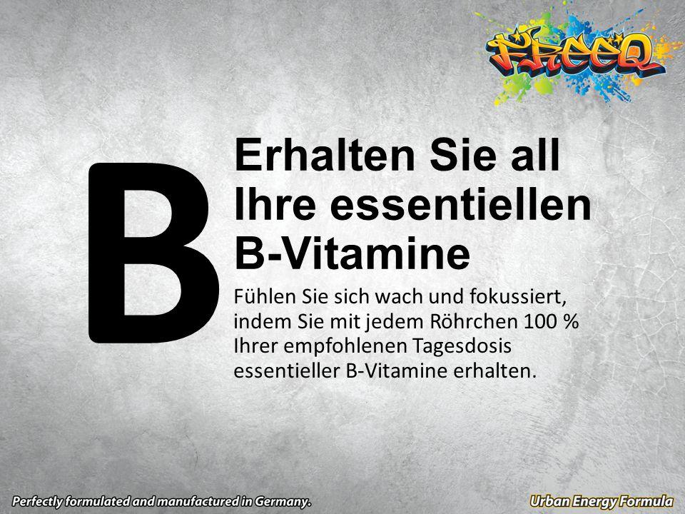 Fühlen Sie sich wach und fokussiert, indem Sie mit jedem Röhrchen 100 % Ihrer empfohlenen Tagesdosis essentieller B-Vitamine erhalten.