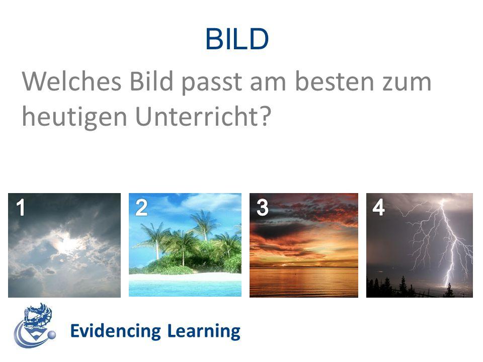 Evidencing Learning BILD Welches Bild passt am besten zum heutigen Unterricht?