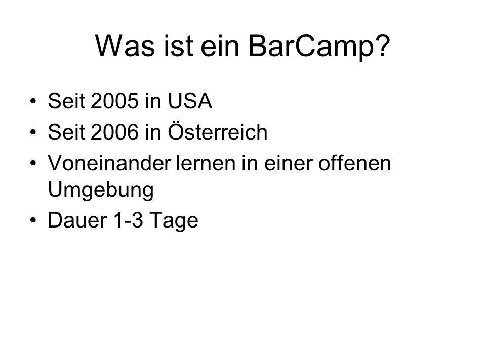 Was ist ein BarCamp.