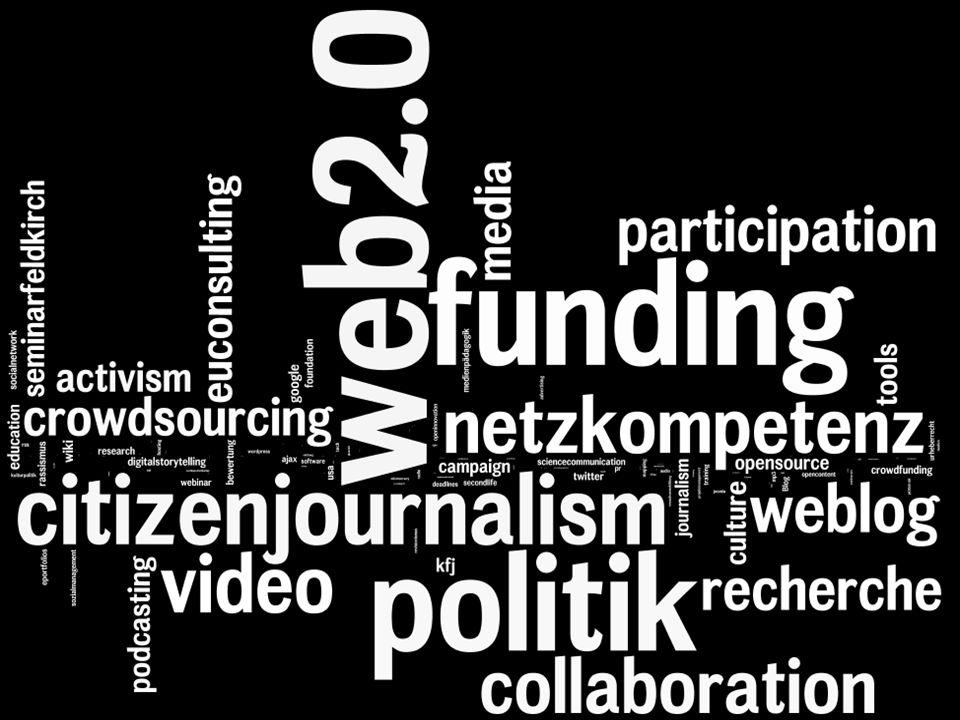 Web 2.0 Partizipation Transparenz Selbstmotivation Vernetzung Bereitstellung von Infrastruktur Voneinander Lernen Sozialkapital