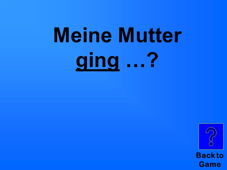 Back to Game Meine Mutter ging …?