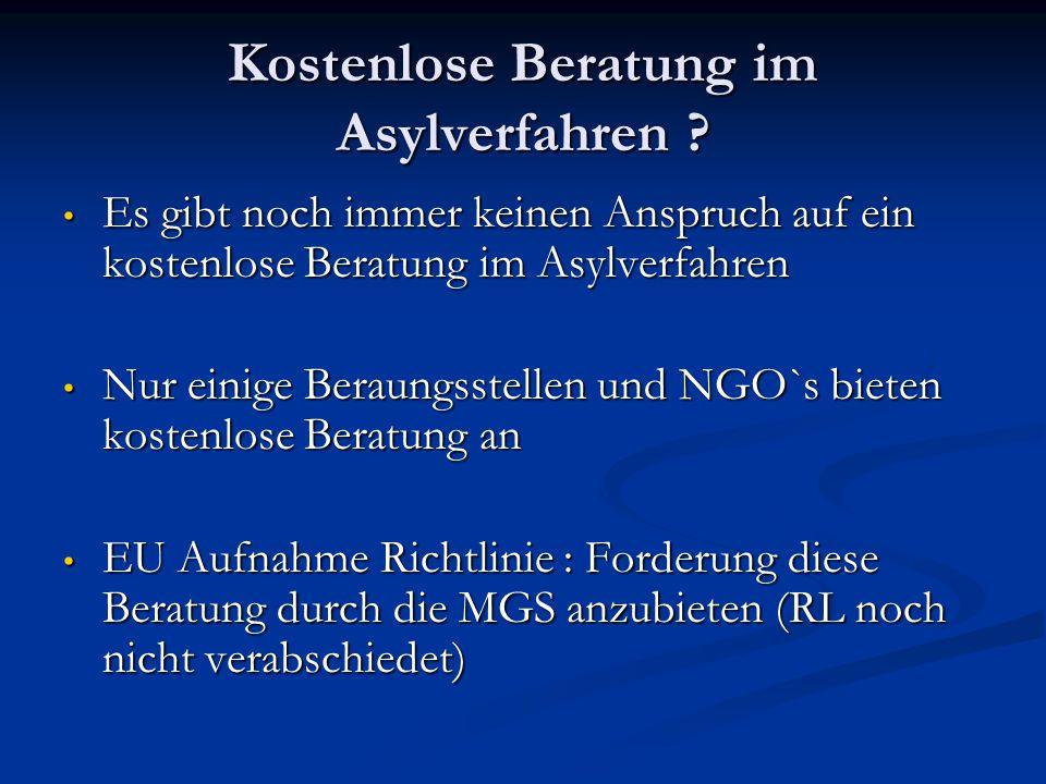 Kostenlose Beratung im Asylverfahren .