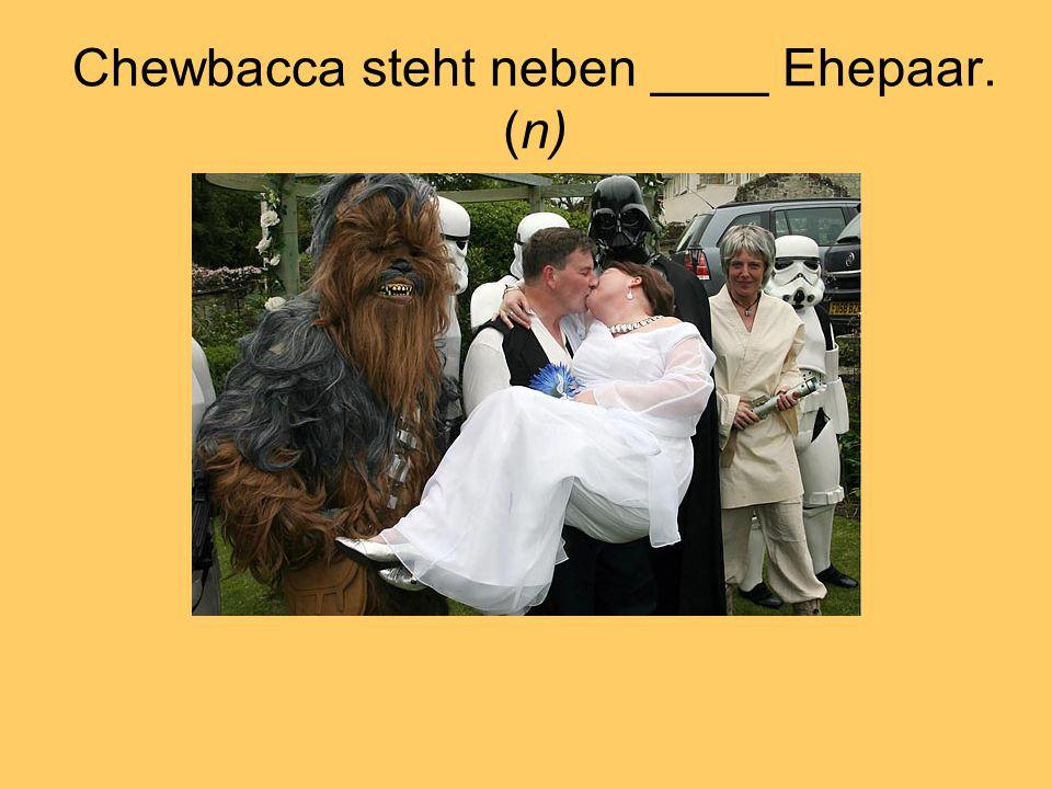 Chewbacca steht neben ____ Ehepaar. (n)