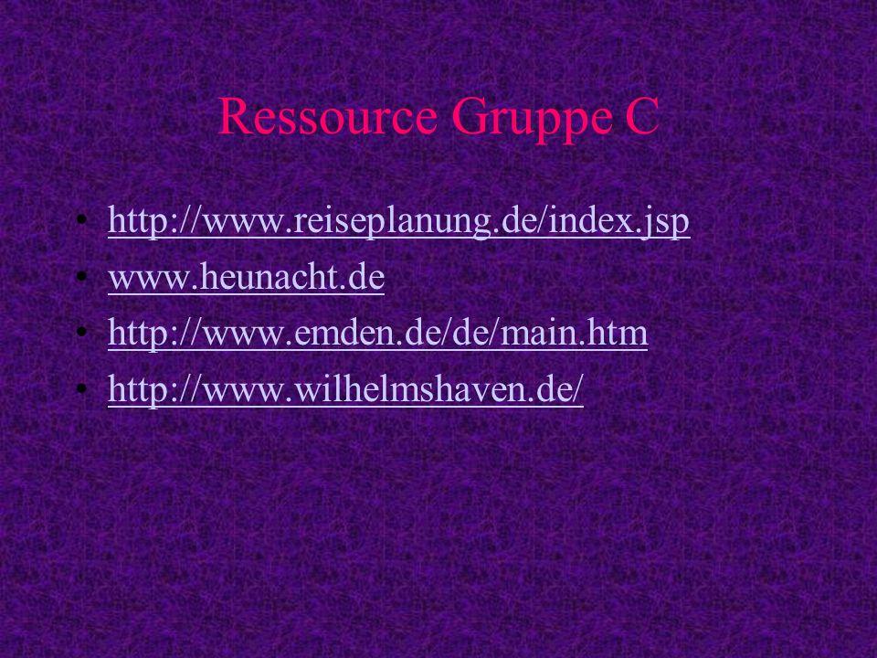 Gruppe C Mit Hilfe eines Routeplaners den Weg Lj- Oldenburg beschreiben Uebernachtungen in Oldenburg – Wilhelmshaven –Emden Wo koennte man uebernachten.