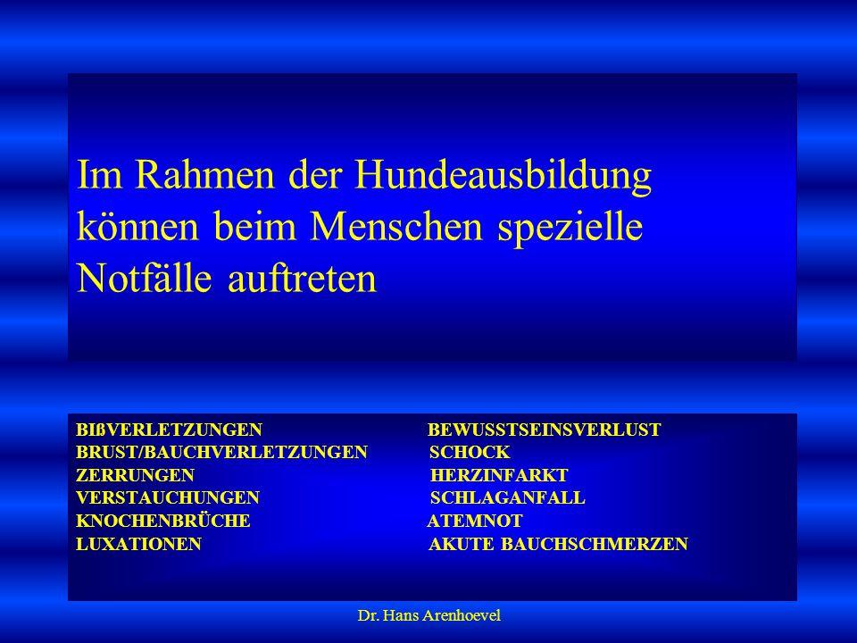 Dr.Hans Arenhoevel Schock durch Gift (z.B.