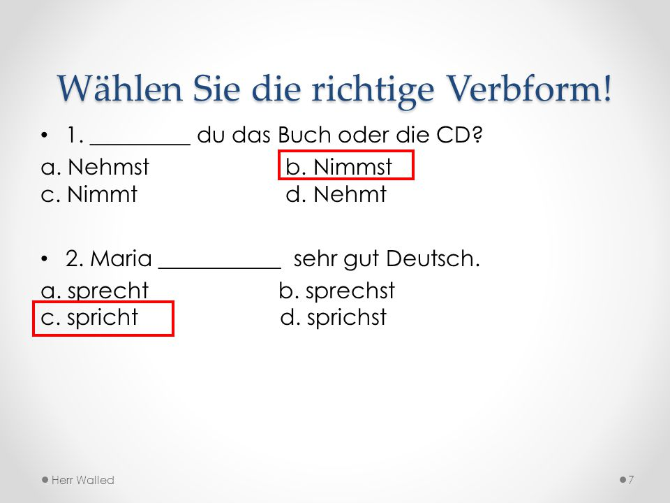 Präpositionen mit Dativ aus from مِن ( للدول والأشياء والأماكن ) vonfrom مِن ( للبلاد والأشخاص ) bei at عند / لدى mitwith مع / بواسطة nachafter / to ( للبلاد والمدن والظروف ) بعد / إلى zu to إلى ( للأشخاص، الأماكن ) وتستخدم مع كلمة ( المنزل ) بمعنى في Herr Waleed38