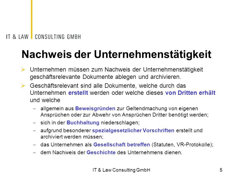 IT & Law Consulting GmbH36IT & Law Consulting GmbH 36 Elektronische Rechnungsstellung  Im Rahmen des E-Billings müssen der Ursprung, die Integrität sowie der Versand und der Empfang nachgewiesen werden können.