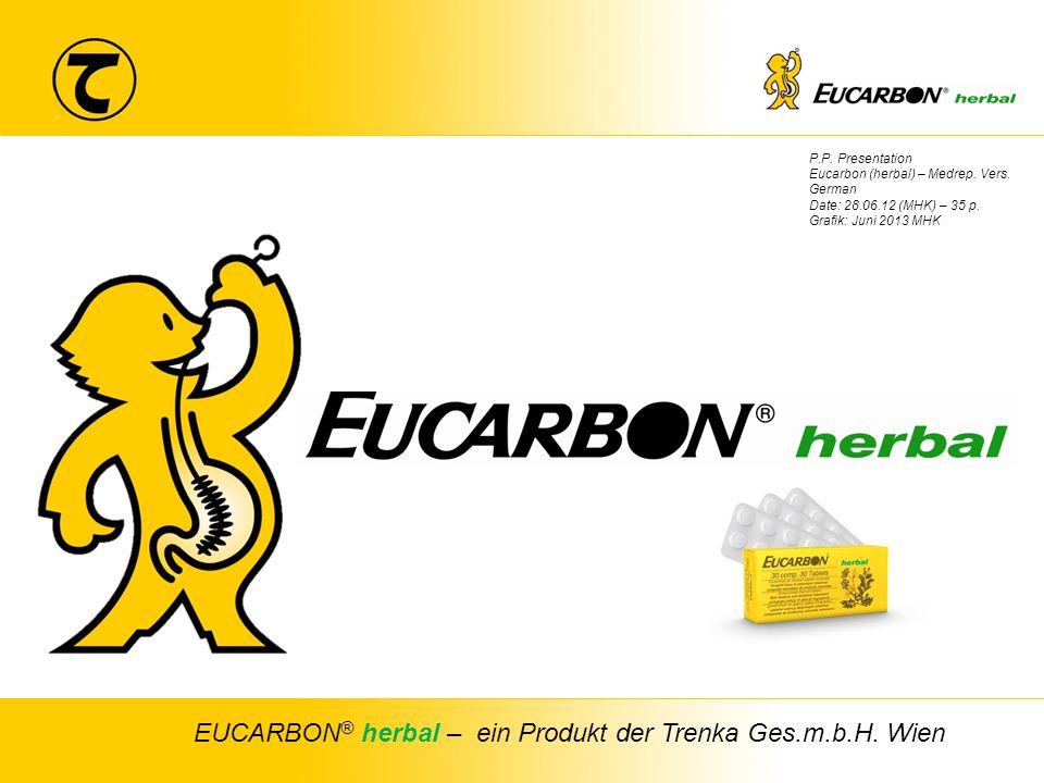 1 TRENKA Chem. pharm. Fabrik Ges.m.b.H P.P. Presentation Eucarbon (herbal) – Medrep. Vers. German Date: 28.06.12 (MHK) – 35 p. Grafik: Juni 2013 MHK E