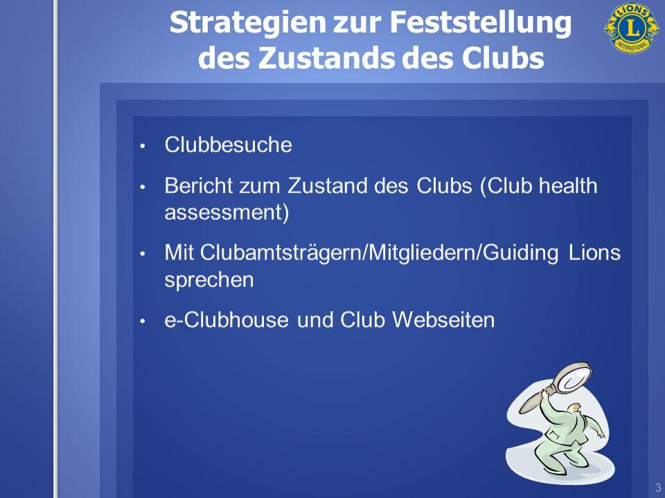 3 Strategien zur Feststellung des Zustands des Clubs