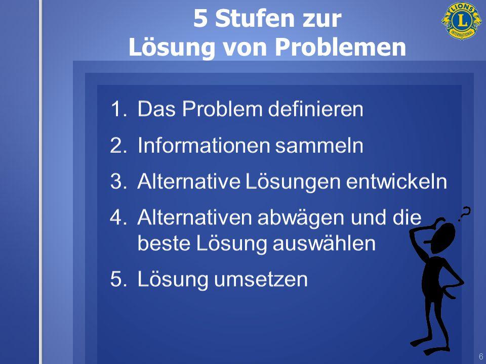 6 5 Stufen zur Lösung von Problemen