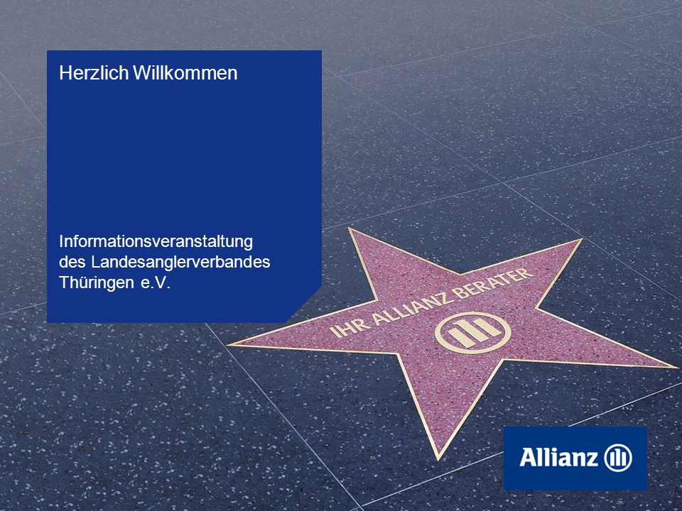 Herzlich Willkommen Informationsveranstaltung des Landesanglerverbandes Thüringen e.V.