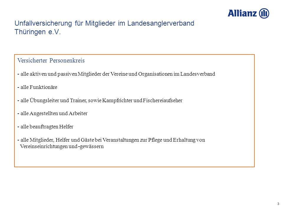 3 Unfallversicherung für Mitglieder im Landesanglerverband Thüringen e.V.