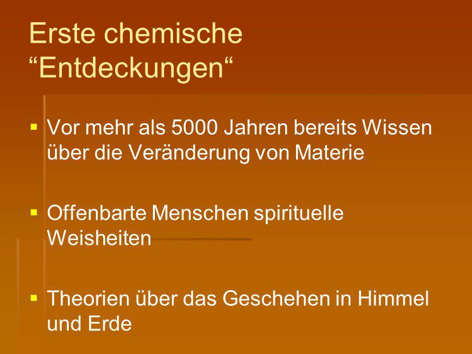"""Erste chemische """"Entdeckungen""""   Vor mehr als 5000 Jahren bereits Wissen über die Veränderung von Materie   Offenbarte Menschen spirituelle Weishe"""