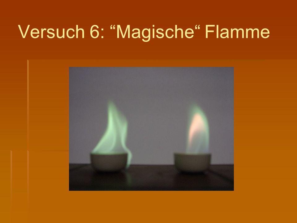 """Versuch 6: """"Magische"""" Flamme"""
