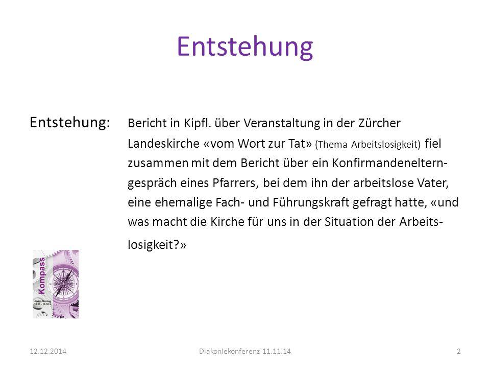 Entstehung Entstehung: Bericht in Kipfl.