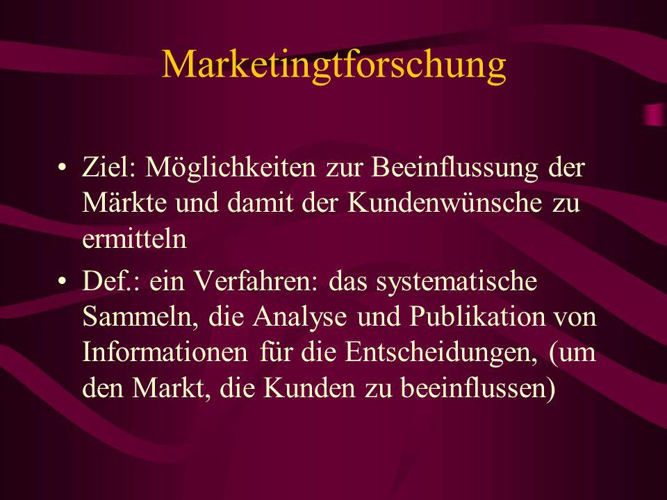 Marketing-Mix Die optimale Kombination der Marketinginstrumente bezeichnet man als Marketing-Mix.