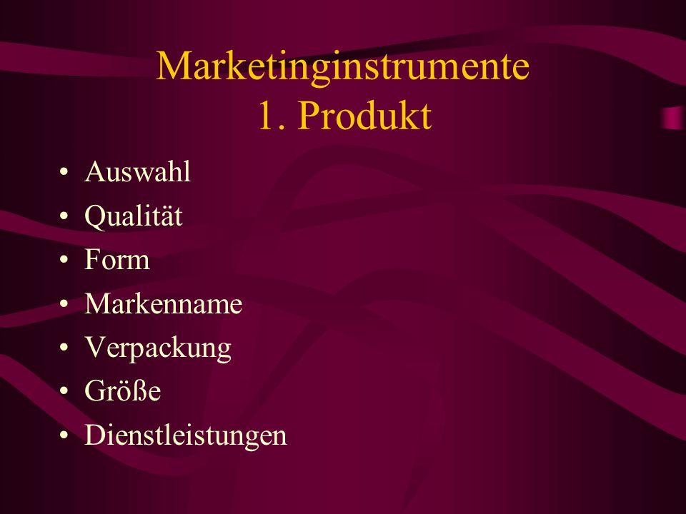 Marketing Aufgabe –früher: den Verkauf der produzierten Güter fördern –jetzt: die Zielgruppen auf dem Markt zu bestimmen und ihre Bedürfnisse am effek