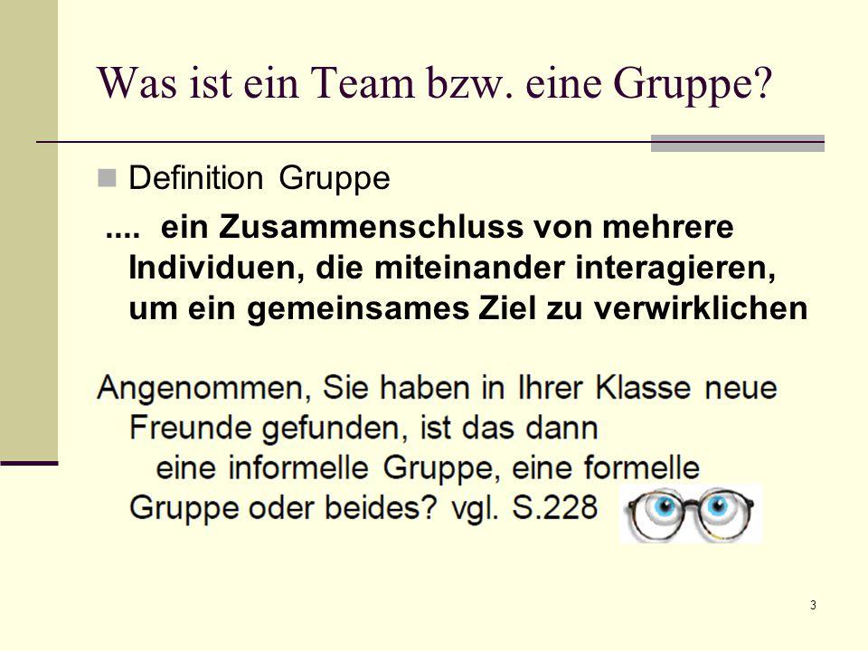 3 Was ist ein Team bzw.eine Gruppe. Definition Gruppe....