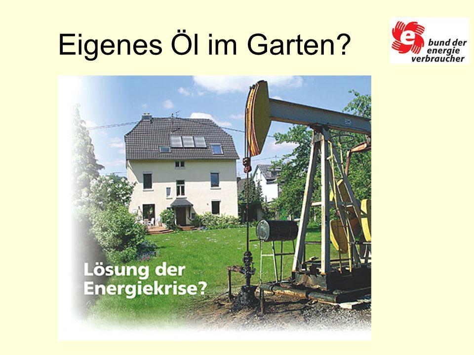 Eigenes Öl im Garten