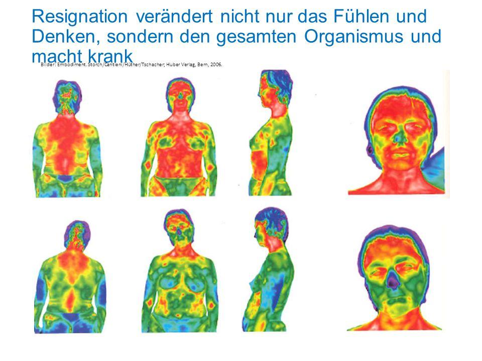 Resignation verändert nicht nur das Fühlen und Denken, sondern den gesamten Organismus und macht krank Bilder: Embodiment.