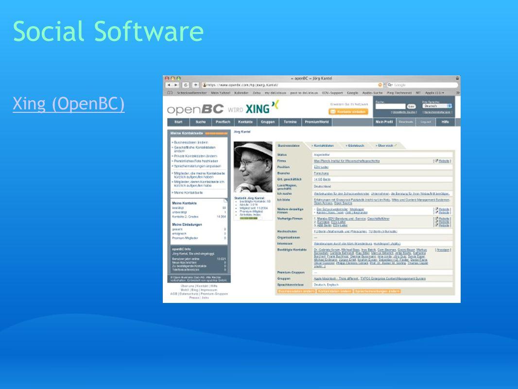 Social Software Xing (OpenBC)