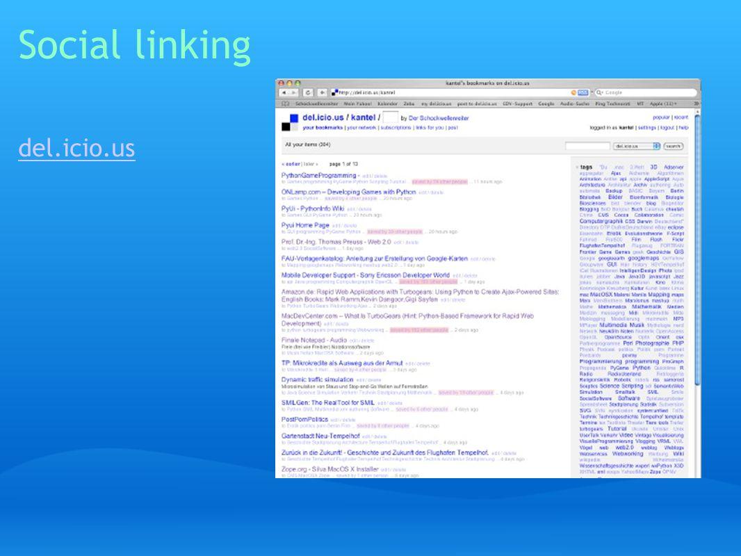 Social linking del.icio.us