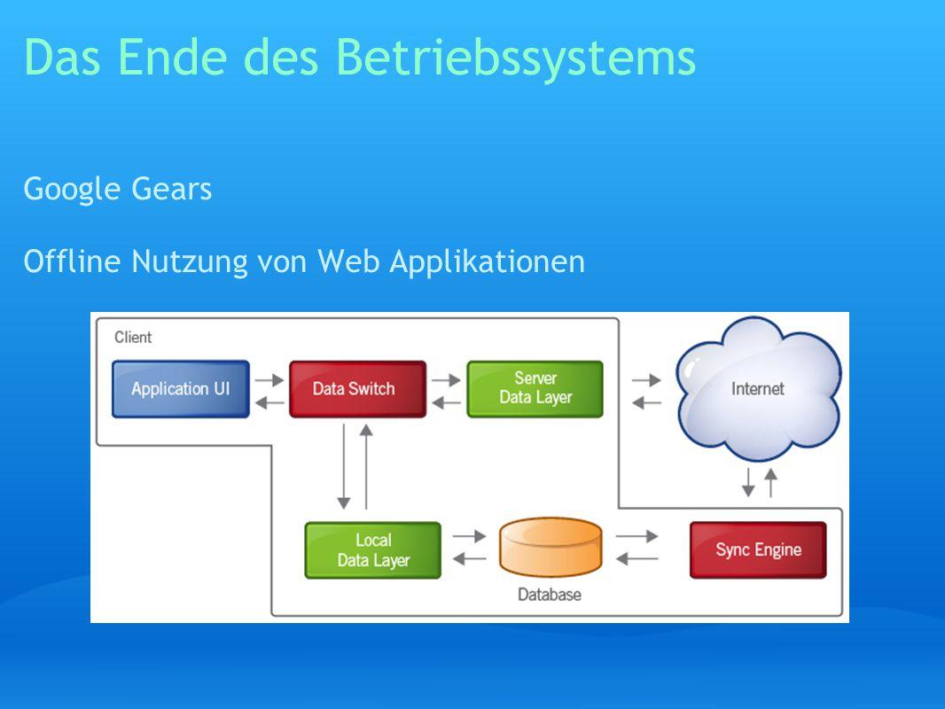 Das Ende des Betriebssystems Google Gears Offline Nutzung von Web Applikationen