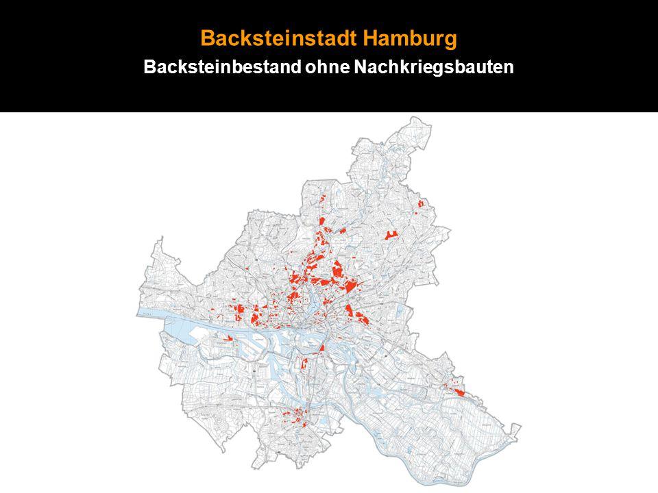 Backsteinstadt Hamburg Backsteinbestand ohne Nachkriegsbauten