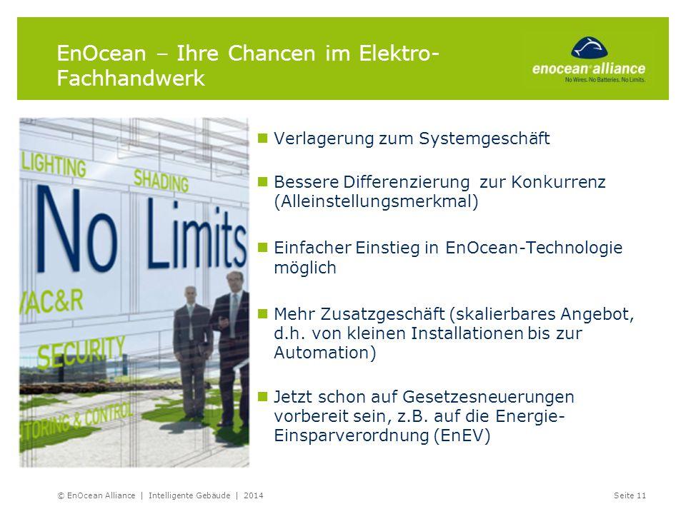 EnOcean – Ihre Chancen im Elektro- Fachhandwerk Verlagerung zum Systemgeschäft Bessere Differenzierung zur Konkurrenz (Alleinstellungsmerkmal) Einfach
