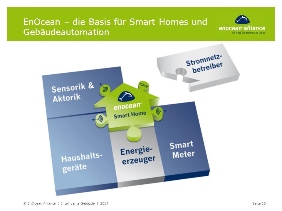 EnOcean – die Basis für Smart Homes und Gebäudeautomation © EnOcean Alliance | Intelligente Gebäude | 2014Seite 15