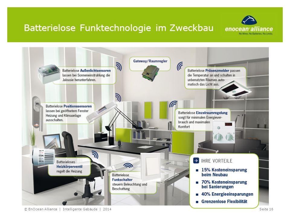 © EnOcean Alliance | Intelligente Gebäude | 2014Seite 16 Batterielose Funktechnologie im Zweckbau